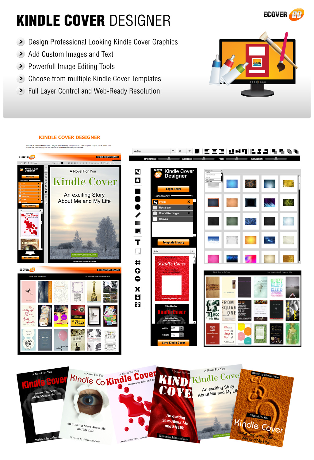 Kindle Book Cover Design : Kindle cover designer ecover go online graphics suite